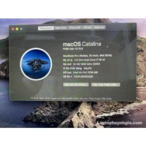Laptop Macbook Pro Retina 2014 -I7   Ram 16G  SSD 256G  Nvidia GT750  LCD 15