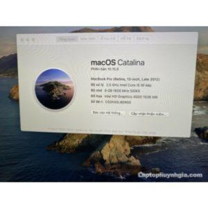 Laptop Macbook Pro Retina -I5| Ram 8G| SSD 256G| Pin 4h| LCD 13 Retina