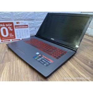 Laptop MSI GV72 -I7 7700HQ| Ram 8G| Nvme M.2 128G| HDD 1T| Nvidia GTC1050| LCD 17.3inch